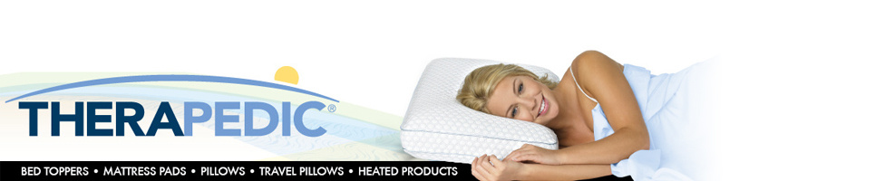 Therapedic Bed Toppers, Mattress Pads, Pillows, Travel Pillows, Heated Products