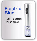 Electric Blue Push-Button Corkscrew
