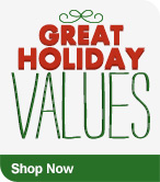 Shop Now Great Holiday Values