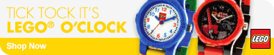 Tick Tock It's Lego O'Clock Shop Now
