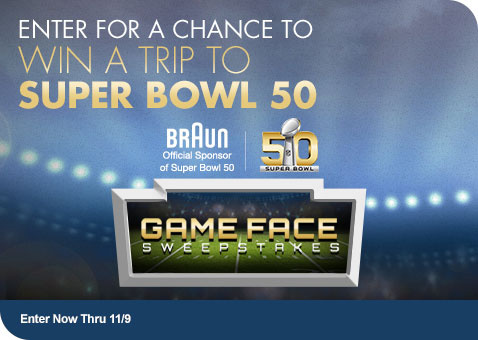 Learn More about Braun Game Face Sweepstakes with Bed Bath & Beyond