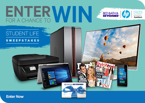 Student Life Sweepstakes - Enter Now For Your Chance to Win
