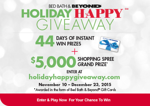 Holiday Happy Giveaway - Enter & Play Now For Your Chance to Win