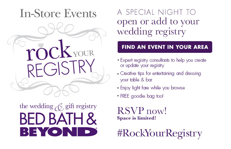 Wedding Gift Registry Website: Bed Bath & Beyond