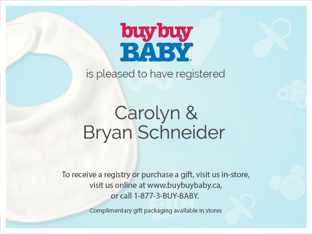 Bed Bath And Beyond Registration Cards