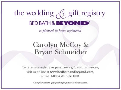 Wedding Gift Ideas Bed Bath Beyond : Print & Personalize Your Own Announcement Cards