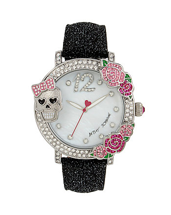 3 D SKULL AND ROSE WATCH