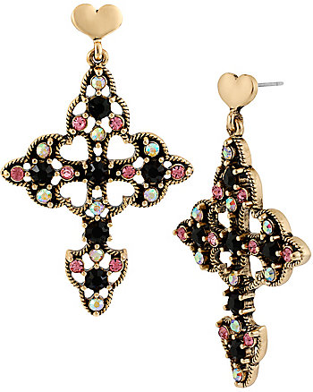 A AND D CRUCIFIX DROP EARRING