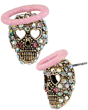 A AND D SKULL ANGEL STUD