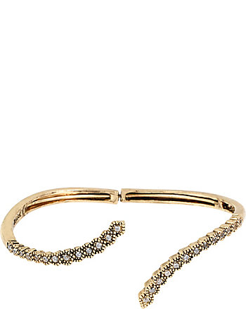 ALL THAT GLITTERS CRYSTAL AND GOLD CUFF