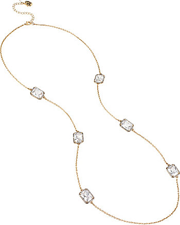 ALL THAT GLITTERS CRYSTAL AND GOLD LONG NECKLACE
