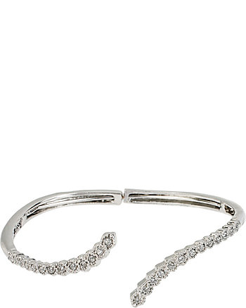 ALL THAT GLITTERS CRYSTAL AND SILVER CUFF