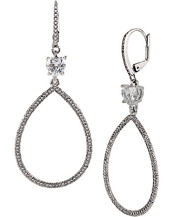ALL THAT GLITTERS CRYSTAL GYPSY HOOP EARRINGS