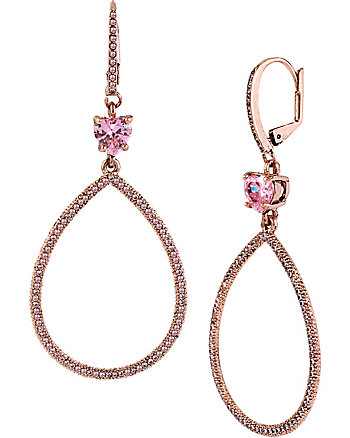 ALL THAT GLITTERS PINK GYPSY HOOP EARRINGS