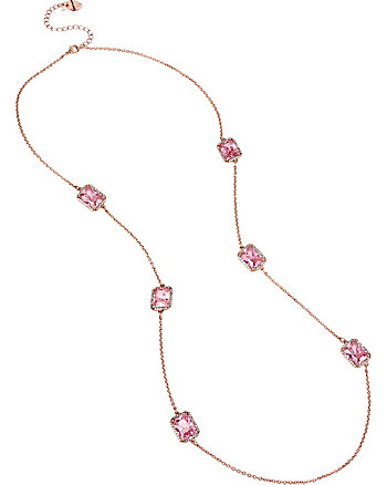 ALL THAT GLITTERS PINK LONG NECKLACE