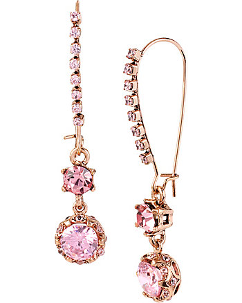 ALL THAT GLITTERS PINK SHEPARDS HOOK EARRINGS