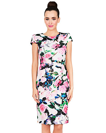 ALLOVER BLOOMS MIDI DRESS