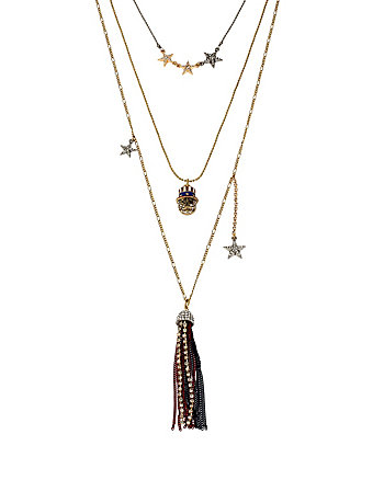 AMERICANA BETSEY 3 ROW NECKLACE