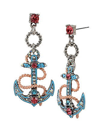 ANCHORS AWAY ANCHOR EARRING