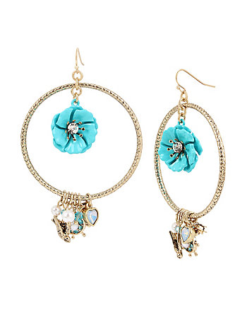 ANCHORS AWAY FLOWER ORBITAL EARRINGS