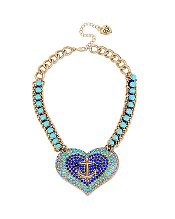 ANCHORS AWAY STATEMENT HEART NECKLACE