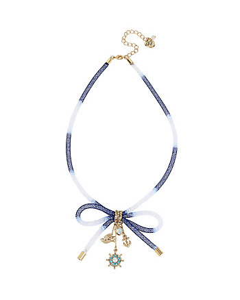 ANCHORS AWAY TUBE BOW NECKLACE