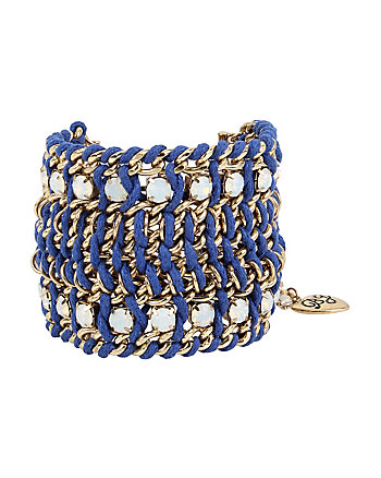 ANCHORS AWAY WIDE WOVEN BRACELET