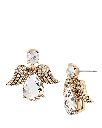ANGELS AND WINGS ANGEL STUD EARRING