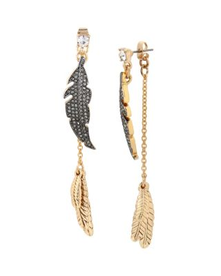 ANGELS AND WINGS FEATHER EARRING CRYSTAL