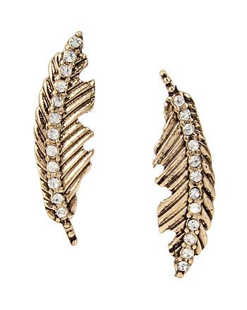 ANGELS AND WINGS FEATHER STUD EARRING
