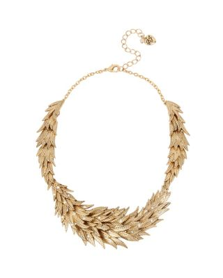 ANGELS AND WINGS FEATHERED COLLAR NECKLACE CRYSTAL