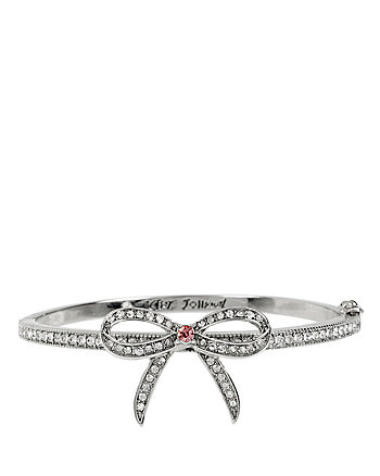 BALLERINA ROSE BOW HINGE BANGLE