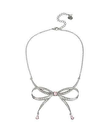 BALLERINA ROSE BOW NECKLACE