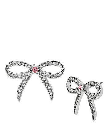 BALLERINA ROSE BOW STUD EARRINGS