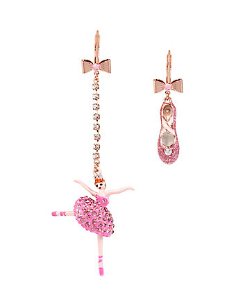 BALLERINA ROSE DANCER AND SHOE EARRINGS
