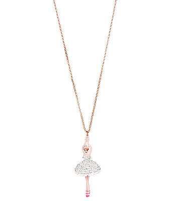 BALLERINA ROSE DANCER LONG PENDANT