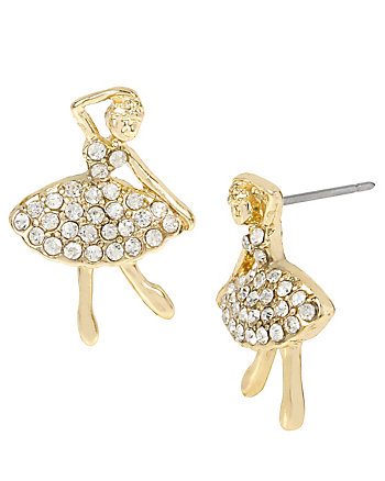 BALLERINA ROSE DANDER STUD EARRINGS