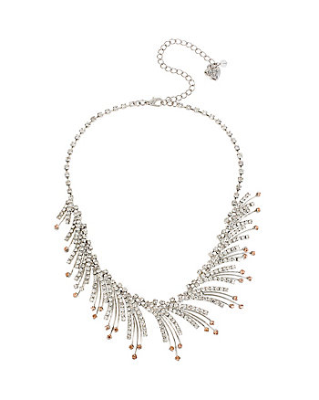 BALLERINA ROSE SPRAY FRONTAL NECKLACE