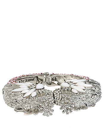 BALLERINA ROSE SWAN HINGE BANGLE