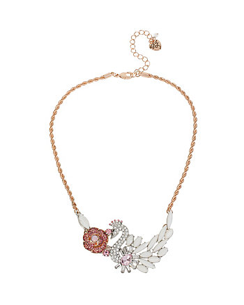 BALLERINA ROSE SWAN ROSE NECKLACE