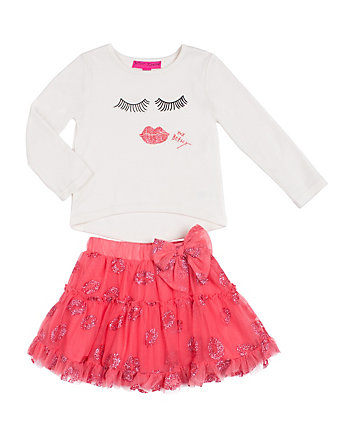 BASHFUL GIRL 4-6X TWO PC TUTU SET
