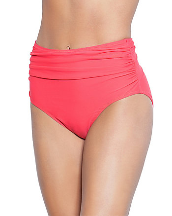BEACH SOLID HIGH WAIST BOTTOM