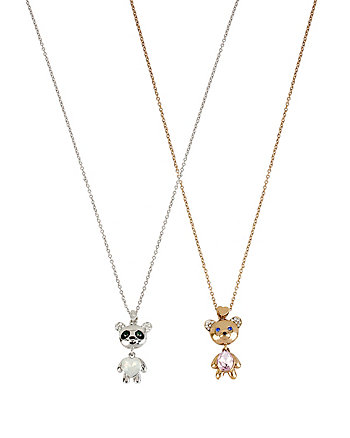 BEAR PANDA DUO NECKLACE SET