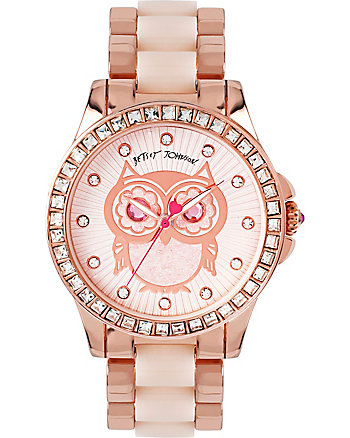 BEAUTIFUL BLUSH OWL WATCH