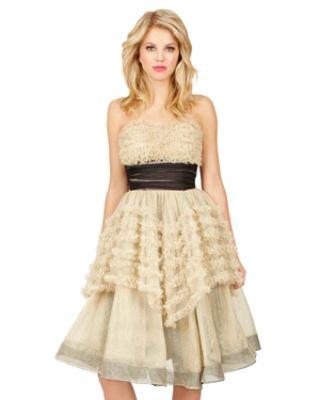 Belle of the Ball Dress GOLD $188.00 AT vintagedancer.com