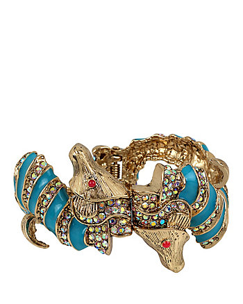 BETSEY AND THE SEA SEAHORSE BANGLE