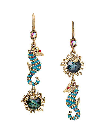 BETSEY AND THE SEA SEAHORSE DROP EARRINGS