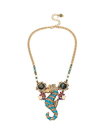 BETSEY AND THE SEA SEAHORSE NECKLACE