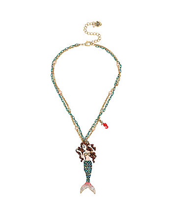 BETSEY AND THE SEA SMALL MERMAID PENDANT