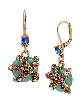 BETSEY AND THE SEA STARFISH DROP EARRINGS
